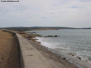 The sea front at Milford-on-Sea