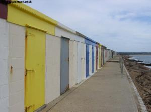 Beach huts at Milford-on-Sea