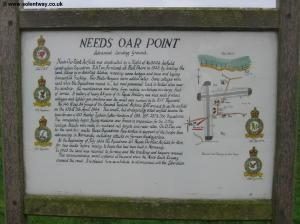 Sign at Needs Oar Point