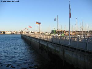 A pier next to Haslar Mariner