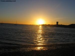 The sun sets over Gosport